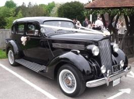 Vintage wedding car for hire in Sevenoaks